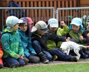 die Waldkinder hatten ihren Spaß