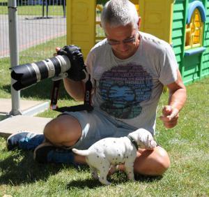 Der Fotograf wird begutachtet